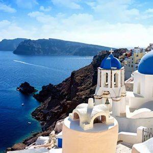 bild på grekisk hus
